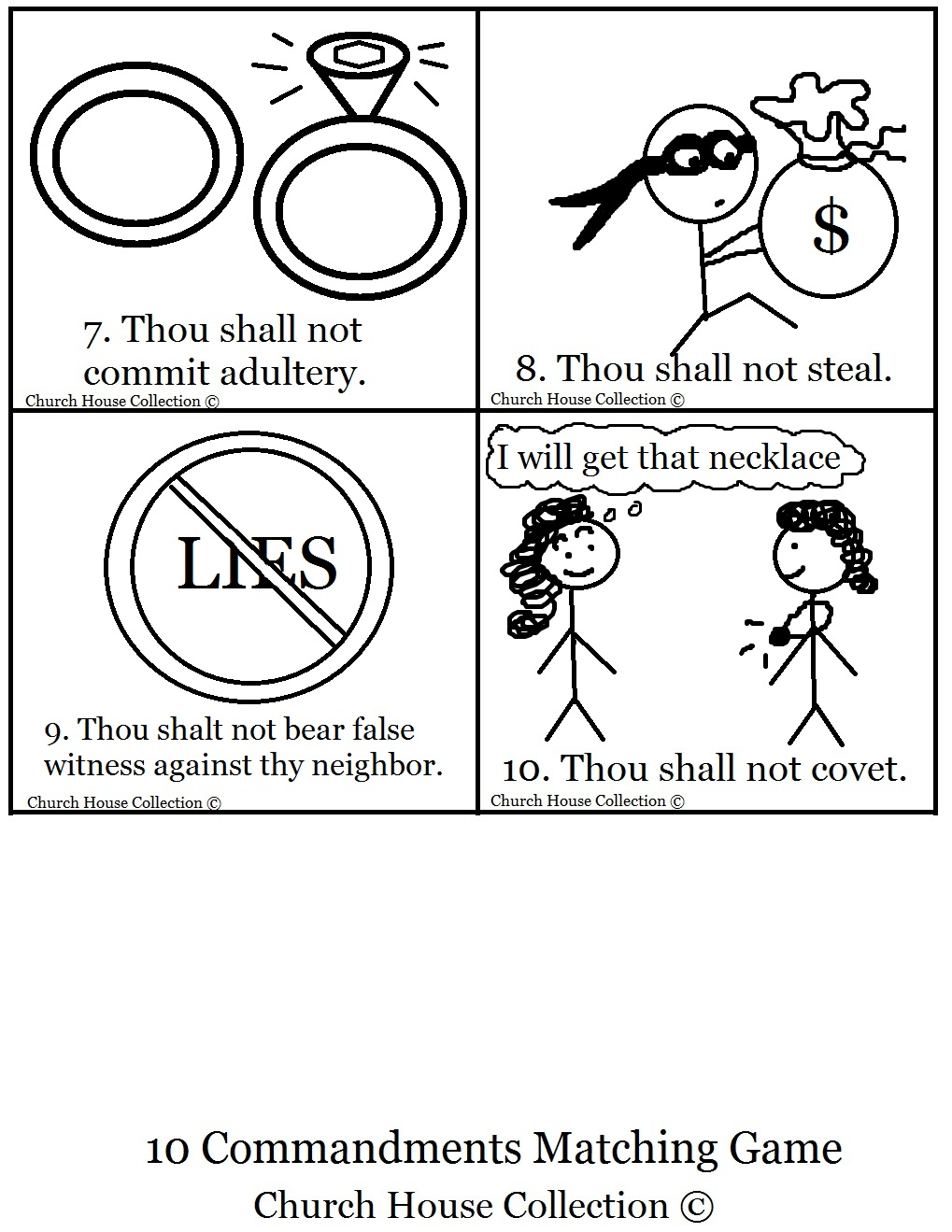 ten commandments printable sheets pictures to pin on pinterest