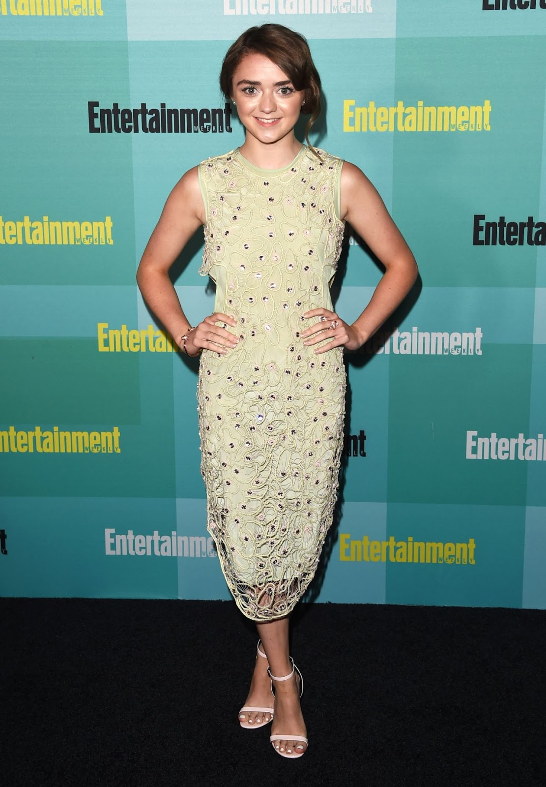 Maisie Williams goes glamorous at the Entertainment Weekly Party at Comic-Con 2015