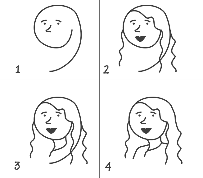Draw It Easy Drawing Pretty Woman Start With Number 9
