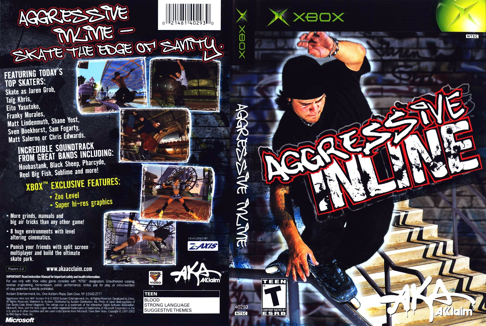 Capa Aggressive Inline Xbox
