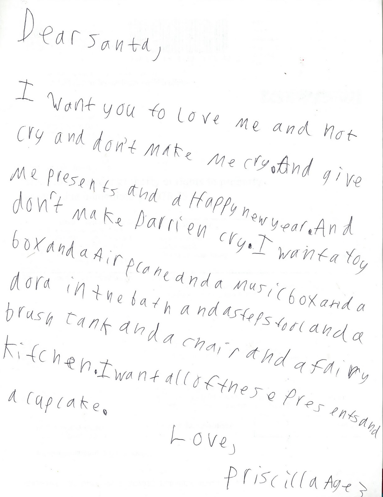 Letters to santa a renaissance woman my kids have prepared their letters to santa my 11 year old transcribed while the 3 year old rattled off her list hopefully you can read it spiritdancerdesigns Gallery
