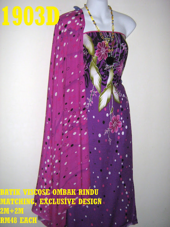 BVM 1903D: BATIK VISCOSE OMBAK RINDU MATCHING, EXCLUSIVE DESIGN, 2M+2M