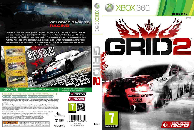 HARD GAMESS: GRID 2   XBOX 360   PC