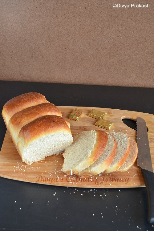 Soft White Bread made using Roux method