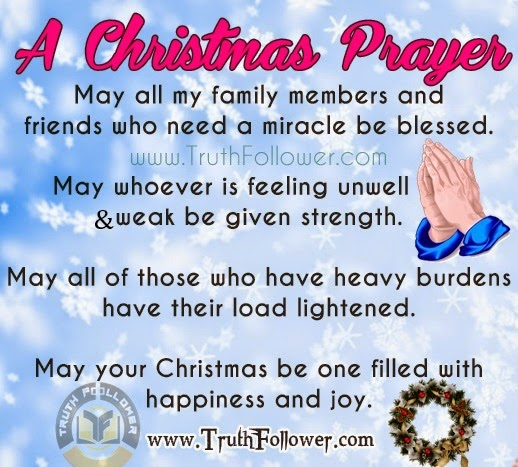 A christmas prayer for family and friends altavistaventures