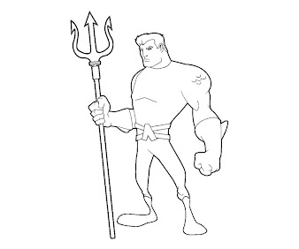 #12 Aquaman Coloring Page