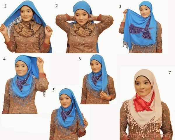 Cara Memakai Model Jilbab Segitiga