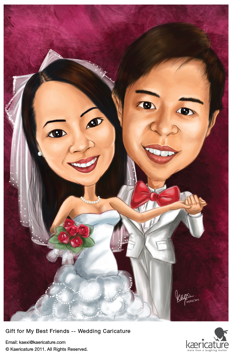 kaexi special unique gift for my best caricature friends as a wedding ...