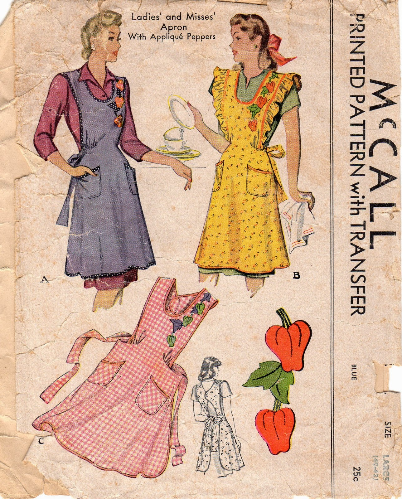 Unsung Sewing Patterns: McCall 1104 - Ladies\' and Misses\' Apron