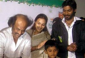 actor dhanush family photos unseen son