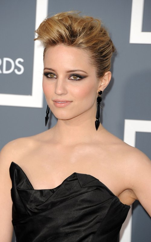 Dianna Agron Blue Dress. house tattoo dianna agron