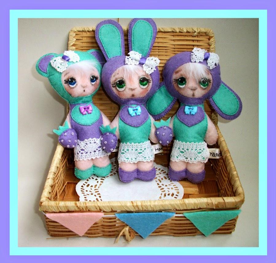 фетровые игрушки куколки куклы хендмейд