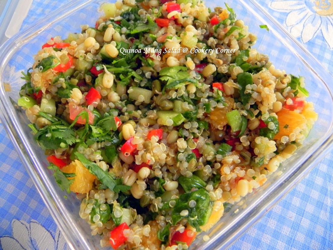 Easy Quinoa Salad Recipes Tasty quinoa salad is ready.