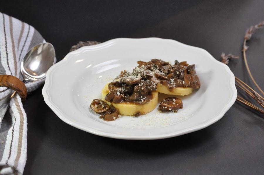 Quick Mushroom Sauce over Polenta