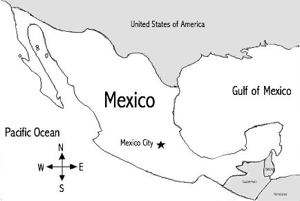 Mexico Map Unlabeled