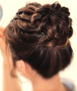 Braided Bun Hairstyle for girls with long hair