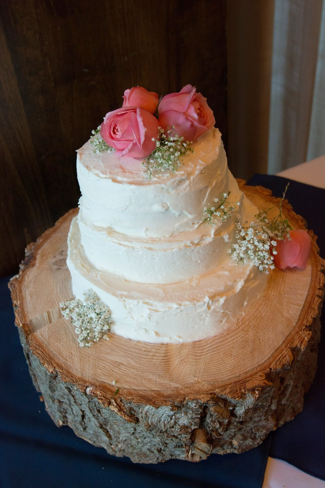 Rustic wedding cake by West Shore Cafe in Lake Tahoe / Take the Cake Events