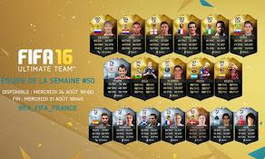 TOTW 50 FIFA 16: Du 24/08 au 31/08