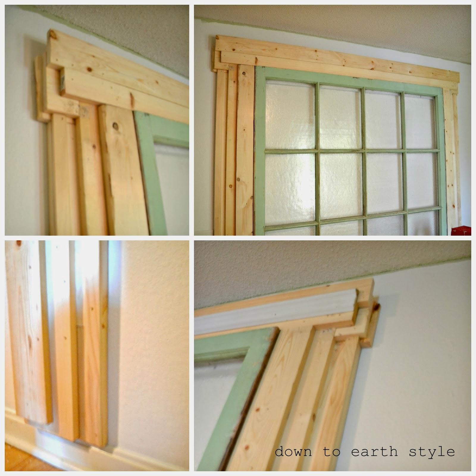 down to earth style old window headboard - Old Window Ideas
