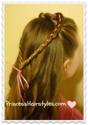 4 strand braid heart hairstyle
