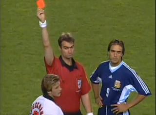 Carton rouge pour Beckham