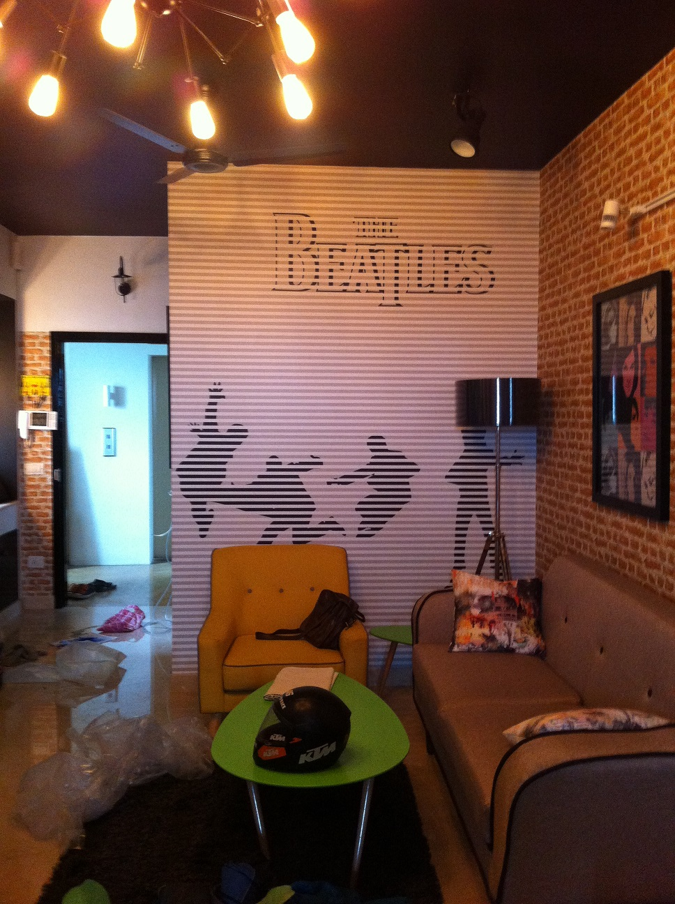 The wall decal blog for Beatles wall mural