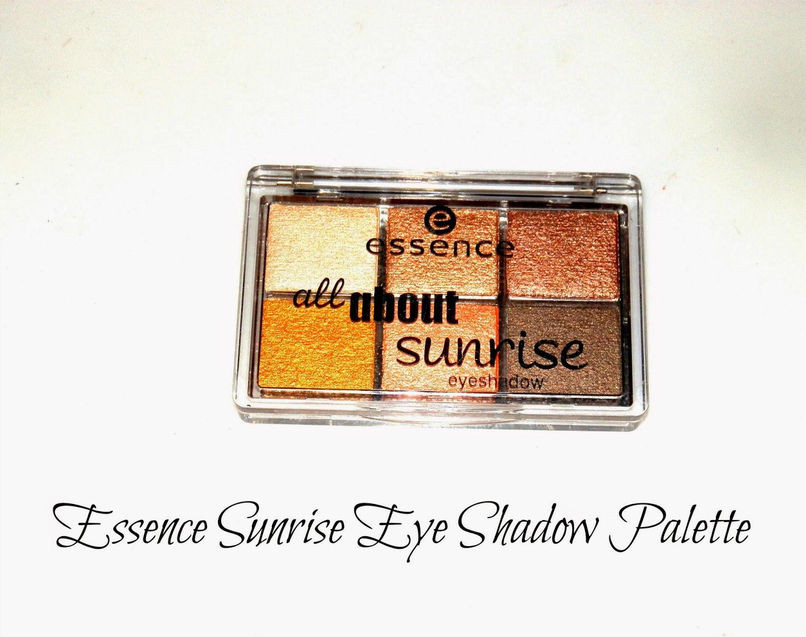Essence Sunrise Eye Shadow Palette Swatches