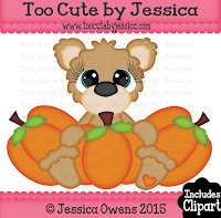 Little Lovelies Pumpkin Bear
