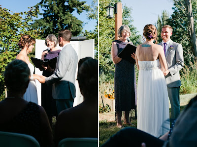 Ben and Caitlin wed at Fall City Farms.  Patricia Stimac, A Heavenly Ceremony