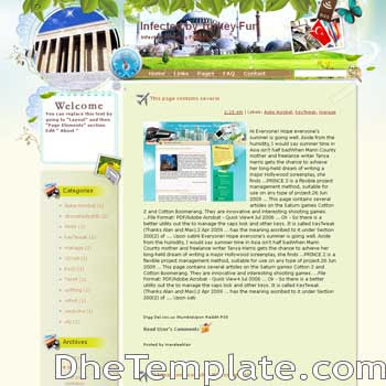 Infected by Turkey Fun blogger template