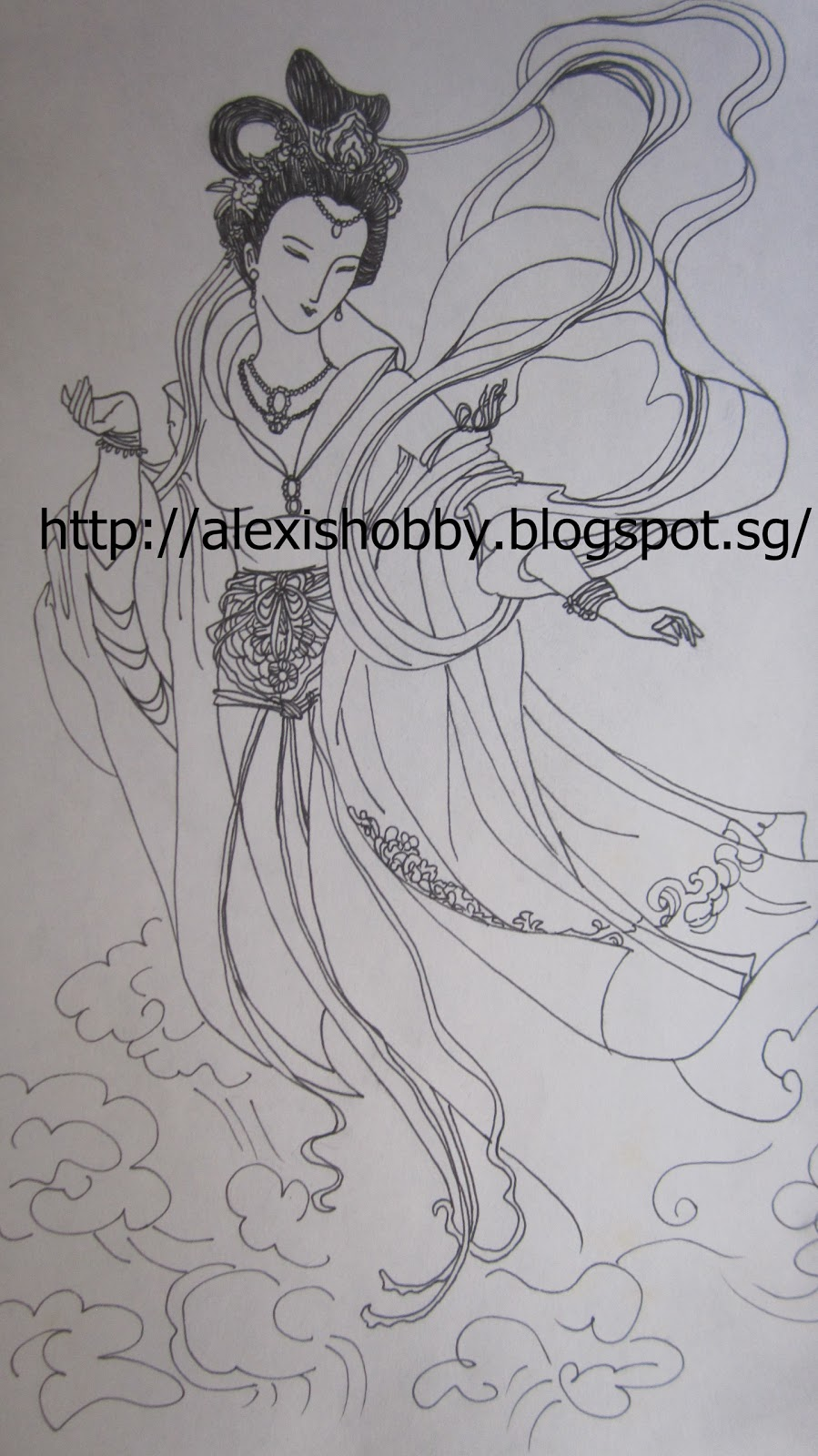 alexis hobby chinese fairy on magic color paper
