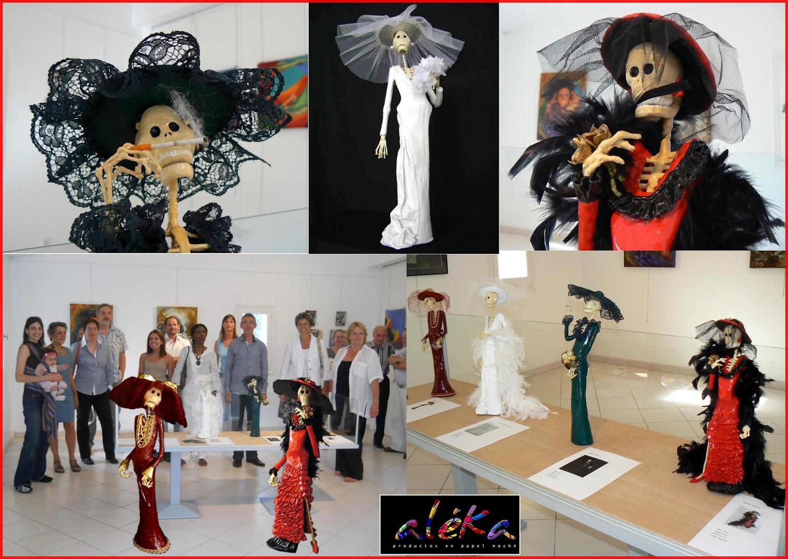 ALÉKA en los trajes elaborados con minucia, gusto y delicadeza, sus plumajes y elegancia de las damas Catrinas  Carolina, Nohora, Isabela y Tatiana.