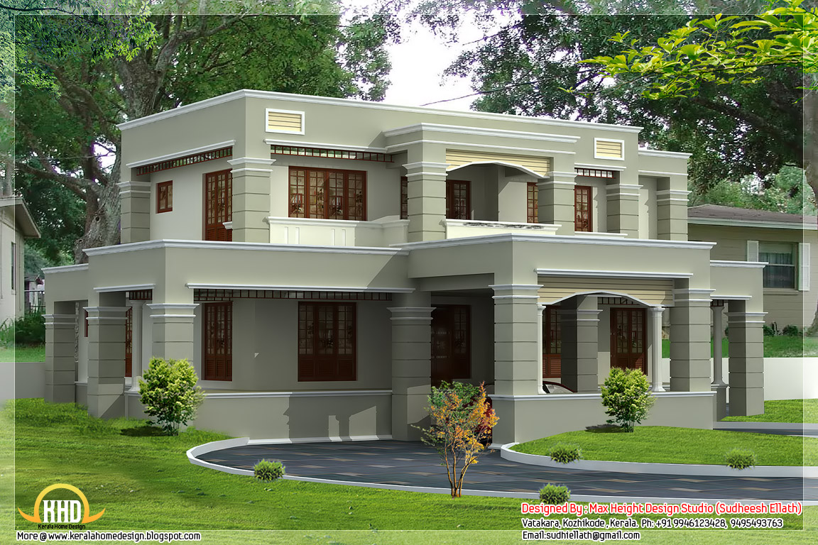 4 different style india house elevations kerala home India house plans