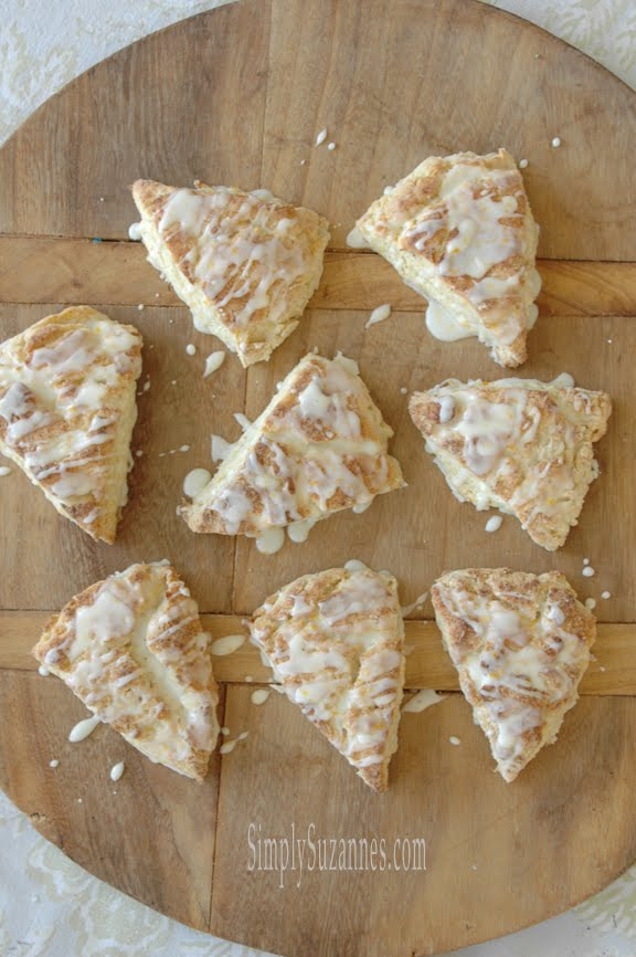 orange cardamom cream scones
