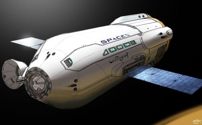 Resultado de imagen para Fotos de la gran nave para viajar a Marte de Elon Musk