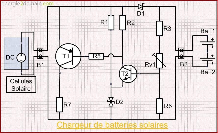 circuit lectrique chargeur de batteries solair schema. Black Bedroom Furniture Sets. Home Design Ideas