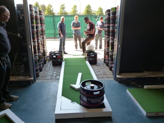 Mini Golf at the Camden Town Brewery in London