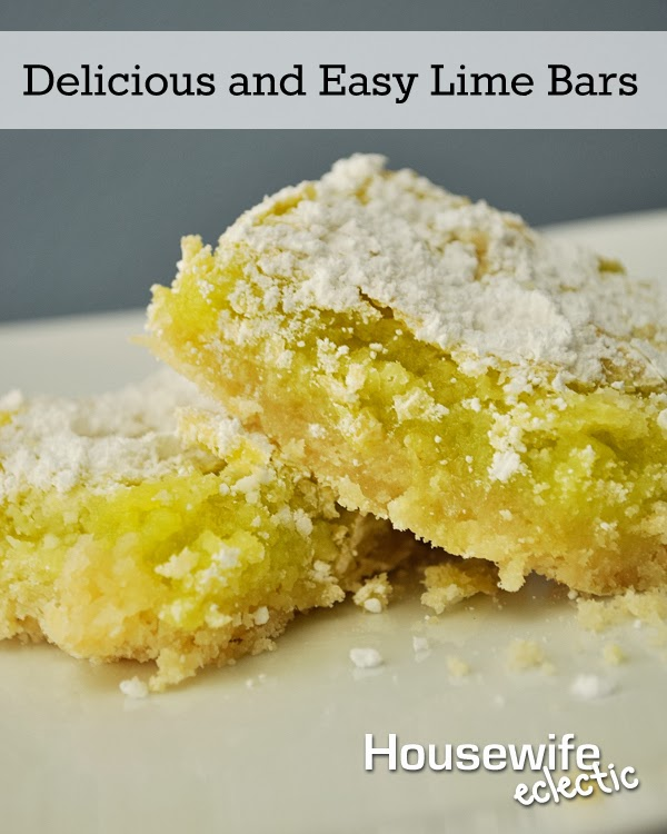 Housewife Eclectic: Delicious and Easy Lime Bars