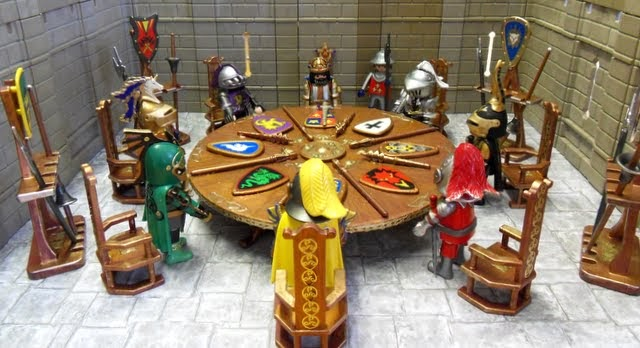 King arthur his knights of the round table emma j 39 s playmobil - Knights of the round table lego ...