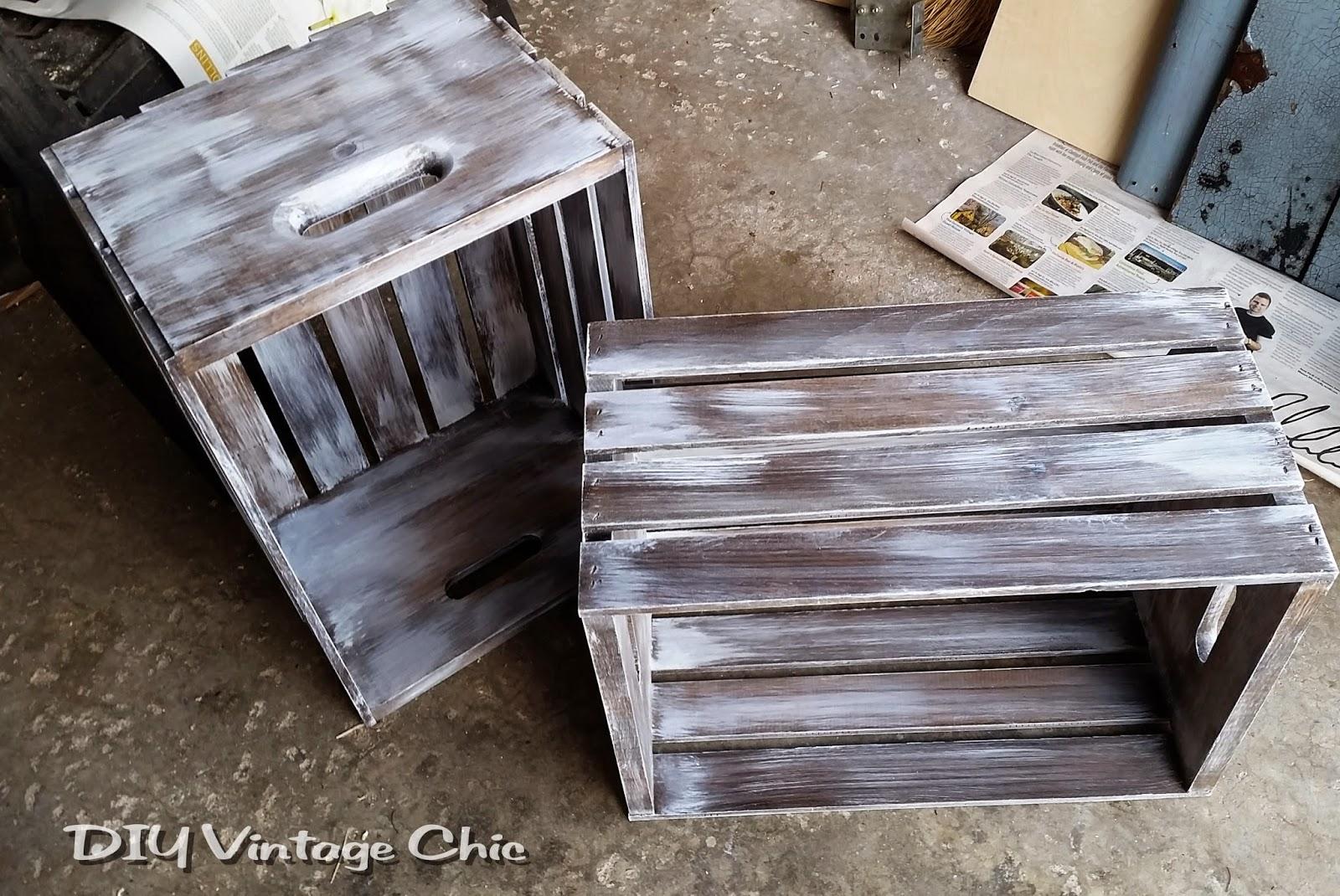 DIY Vintage Chic DIY Vintage Wine Crate Coffee Table Whitewash