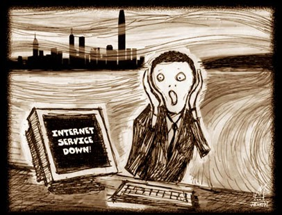 Imagem representando o desespero sem internet