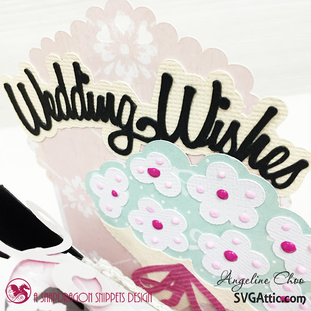 ScrappyScrappy: Wedding wishes  #svgattic #scrappyscrappy #weddingwishes #boxcard #card