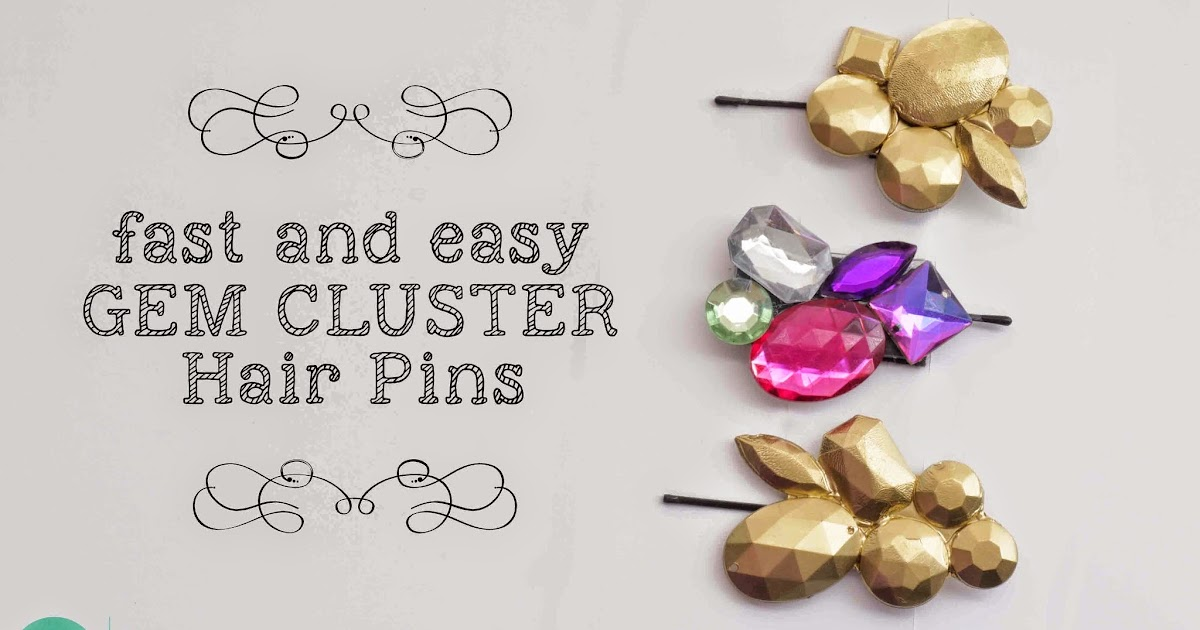 DIY: Gem Cluster Hair Clips