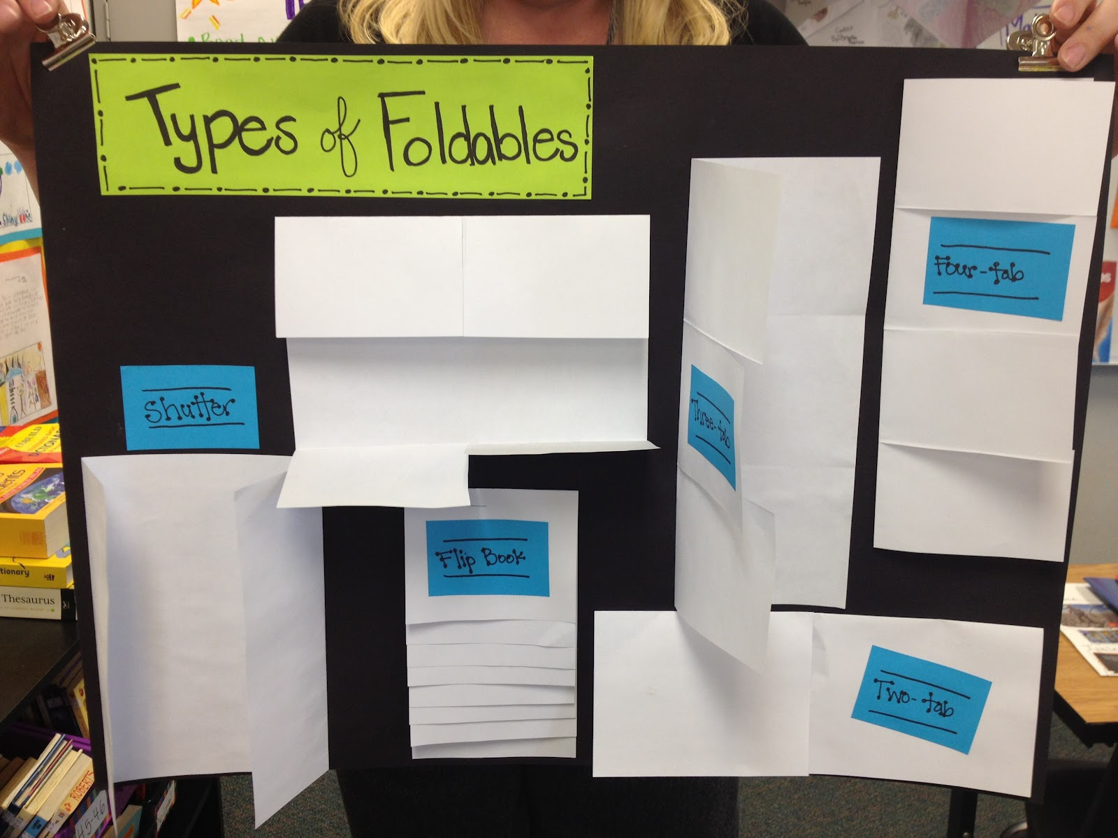 similiar examples of foldables for teaching keywords