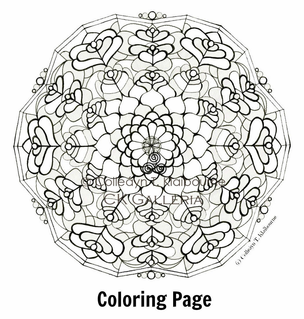 Art potatoes my blog is moving free coloring page for Love mandala coloring pages