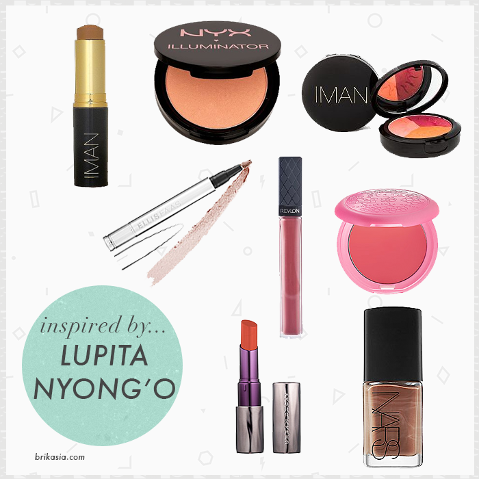 how to look like lupita nyong'o, lupita nyongo, makeup for dark skin, ebony skin beauty products, iman cosmetics, makeup essentials for dark complexion