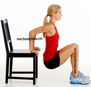 chair dips to lose fat from arms fast and easy way