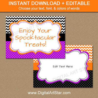 downloadable halloween 5x7 signs with editable text