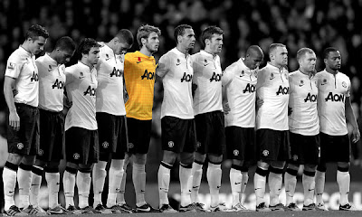 Manchester United Squad Black-White 2013-2014