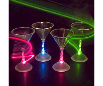 Custom Made Light Up Flashing Martini Glass